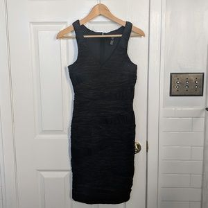 AQUA Little black cocktail dress